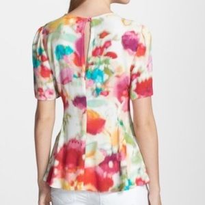kate spade Tops - HP! 💕Kate Spade Tulip Top in Multi Giverny Floral